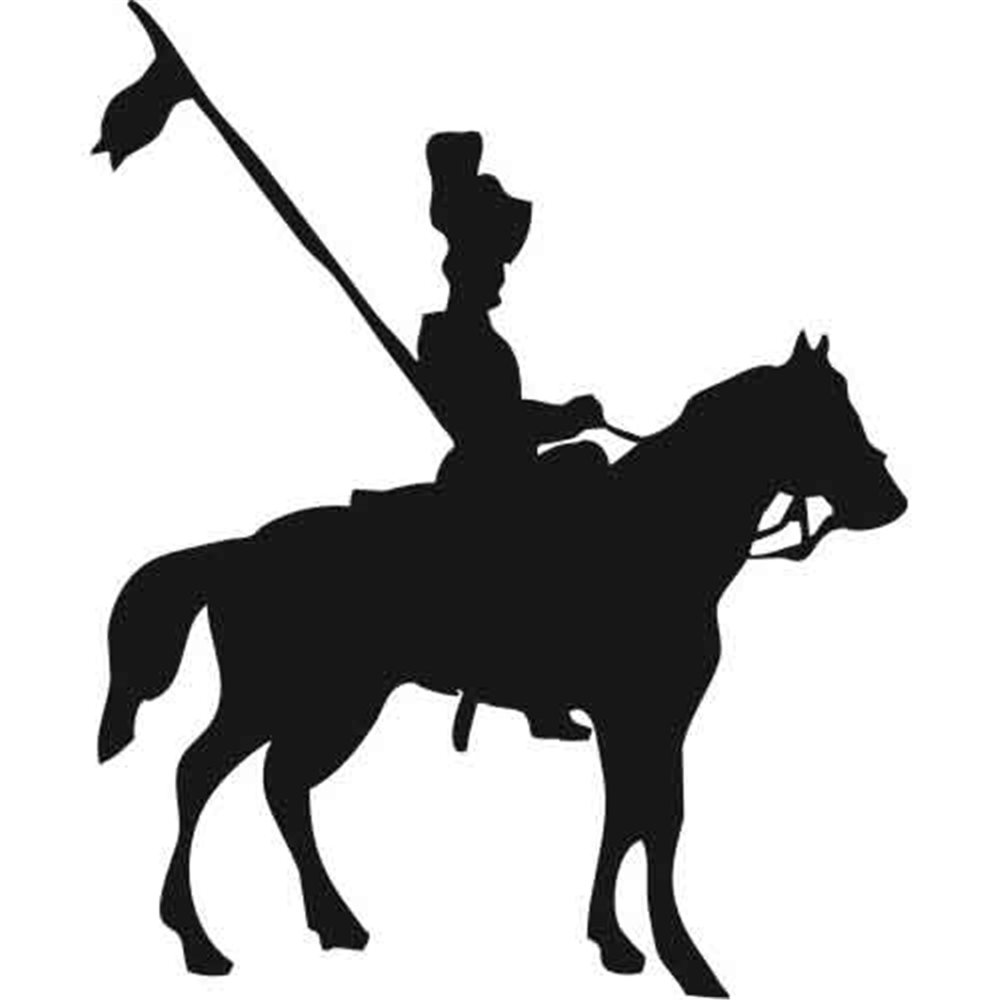 Szablon malarski PX 199 rycerz na koniu postać, PX199