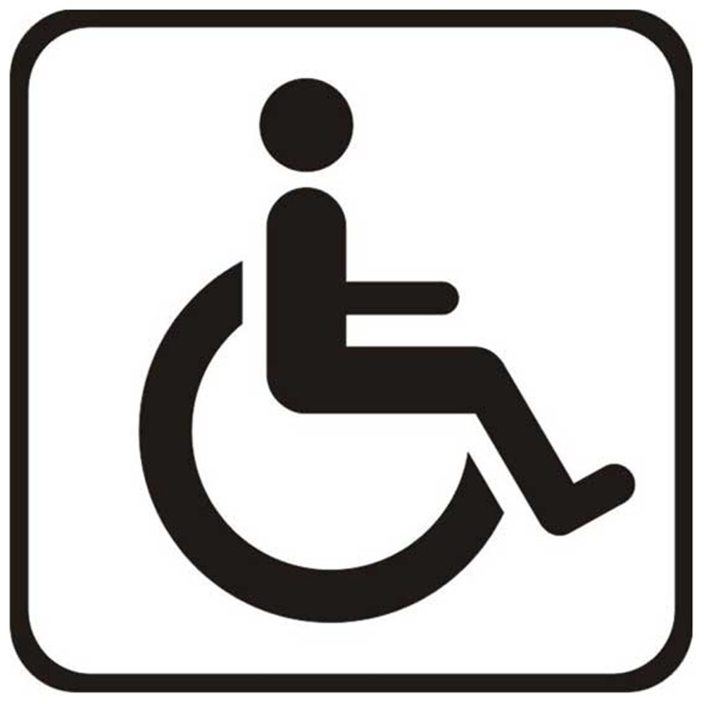 Szablon malarski SYM01 - Miejsce dla inwalidy
