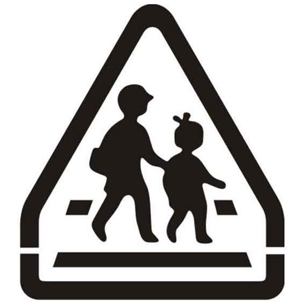 Szablon malarski SYM04 - Uwaga dzieci