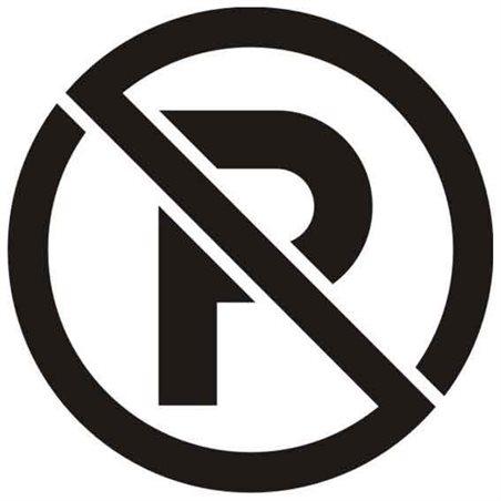 Szablon malarski SYM09 - Zakaz parkowania, Nie parkować