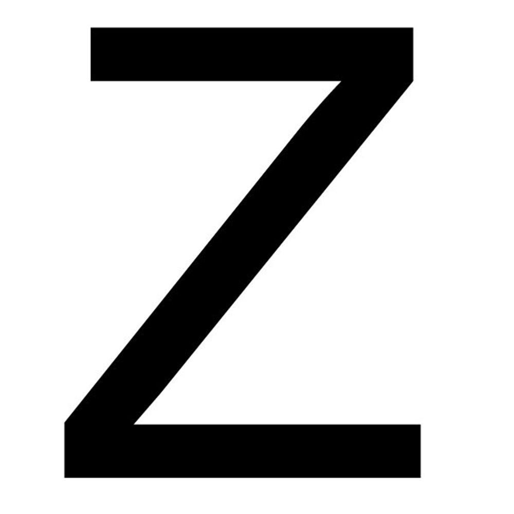 Szablon malarski litera Z , czcionka Arial