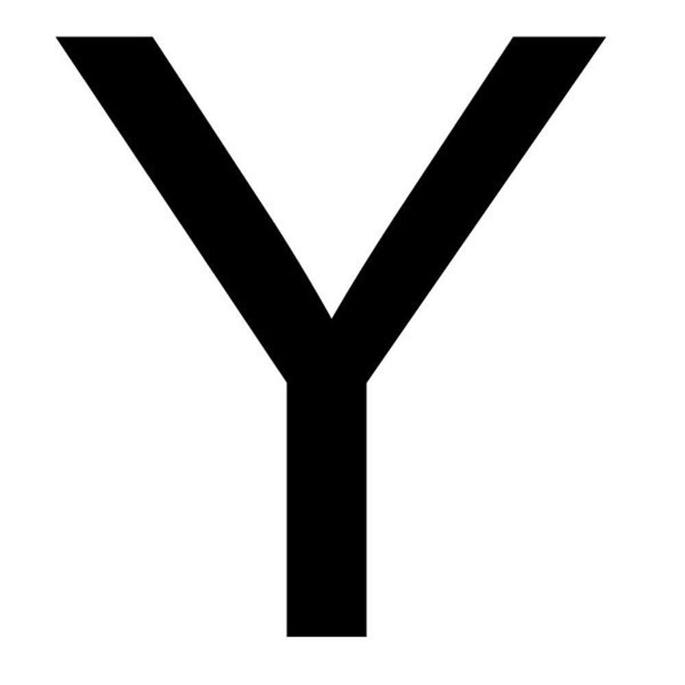 Szablon malarski litera Y , czcionka Arial