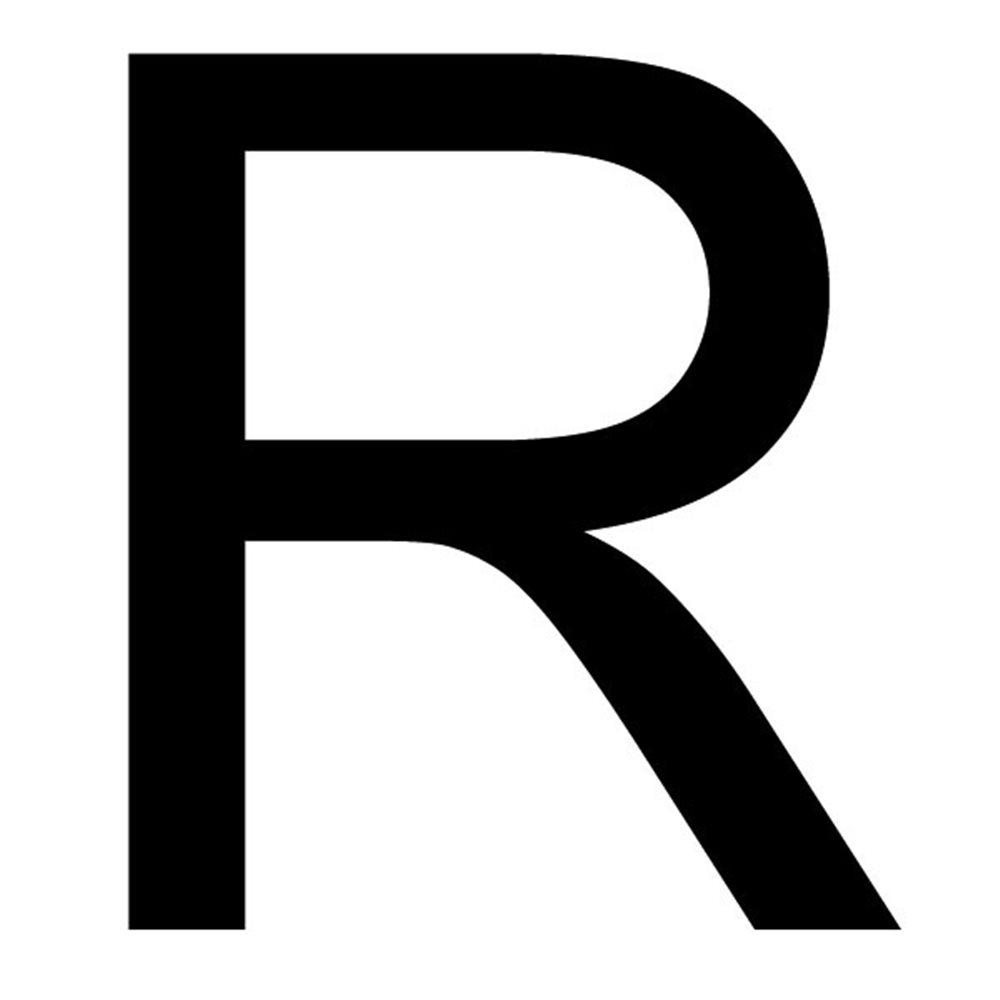 Szablon malarski litera R , czcionka Arial