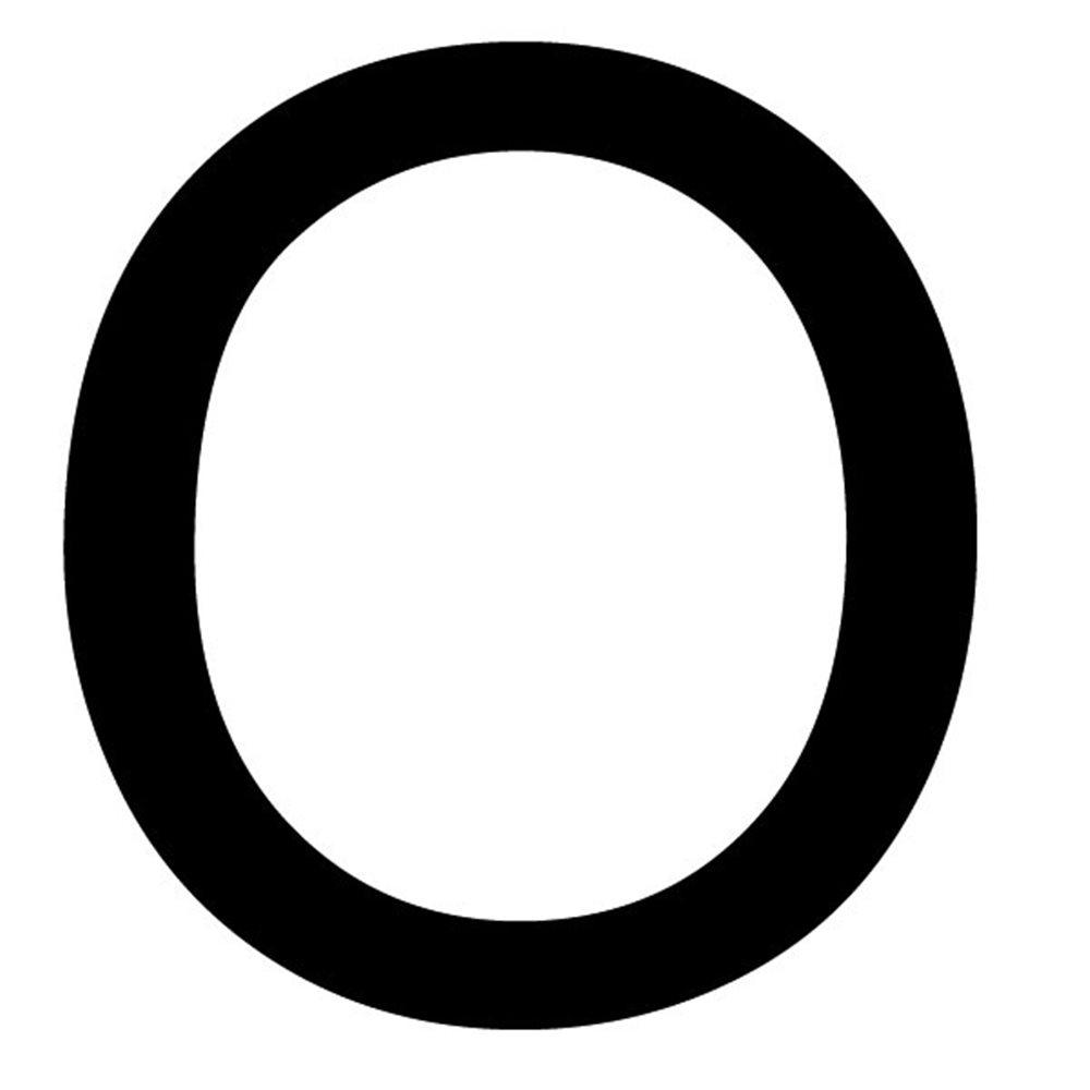 Szablon malarski litera O , czcionka Arial