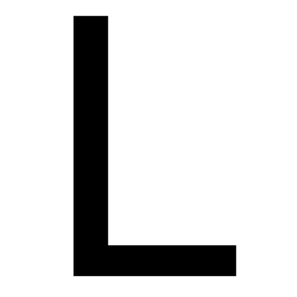 Szablon malarski litera L , czcionka Arial