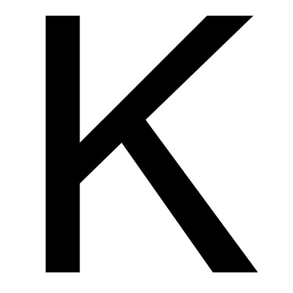 Szablon malarski litera K , czcionka Arial