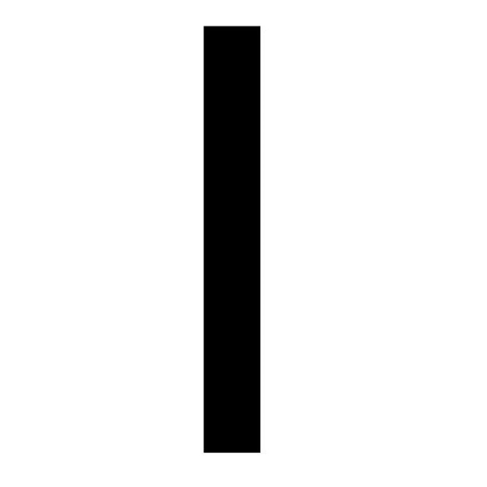 Szablon malarski litera I , czcionka Arial