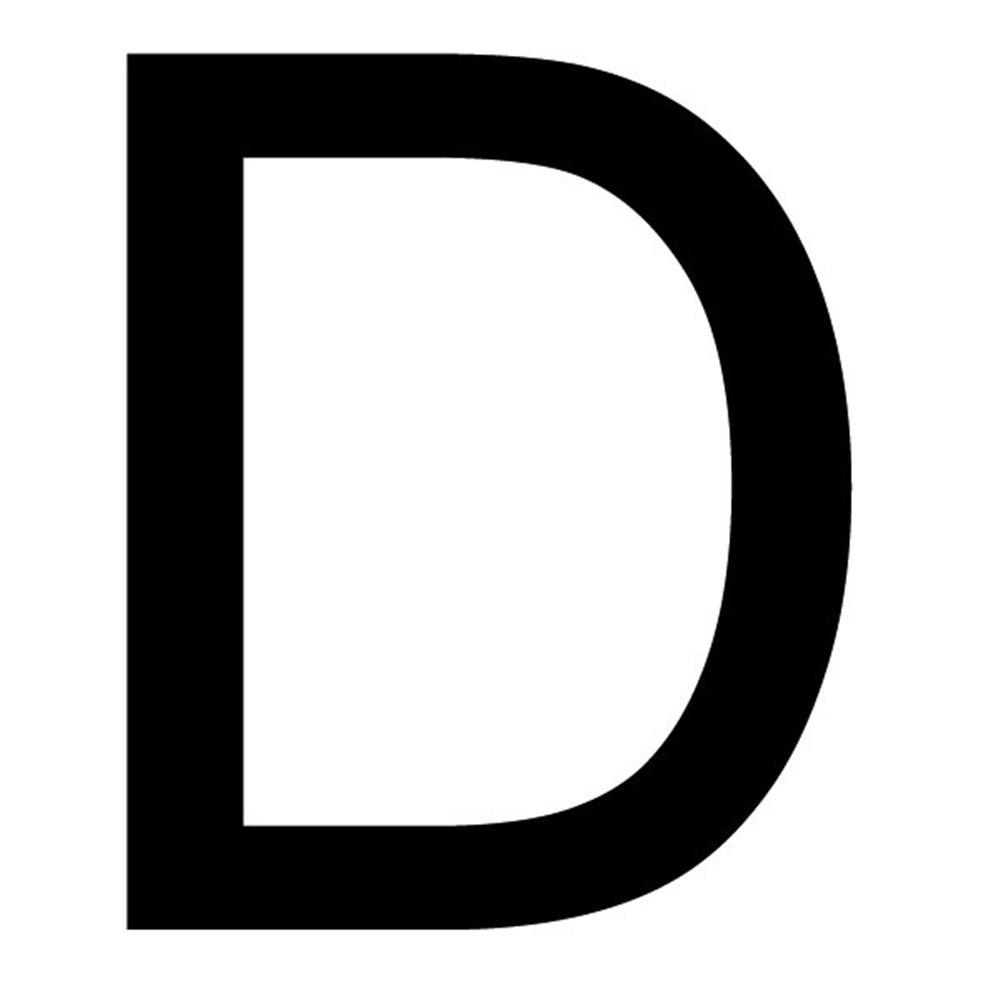 Szablon malarski litera D , czcionka Arial