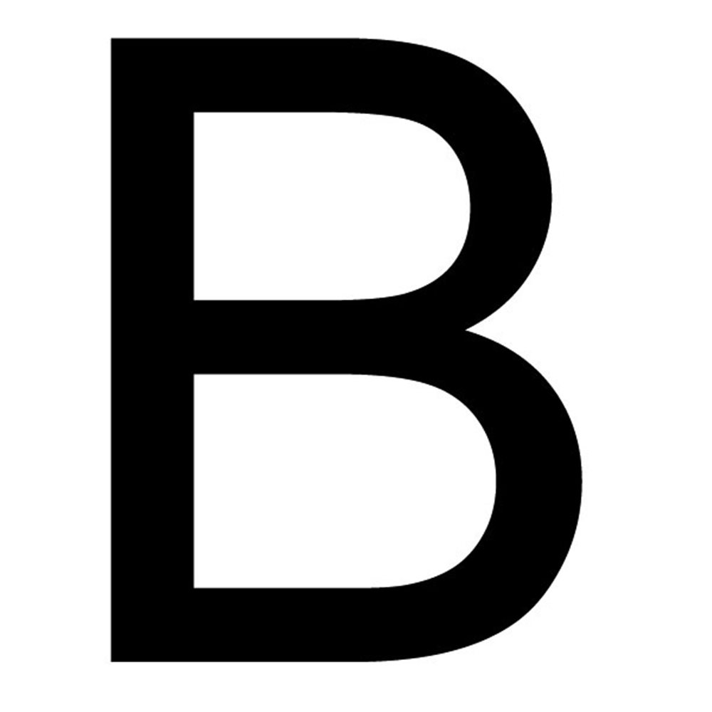Szablon malarski litera B , czcionka Arial