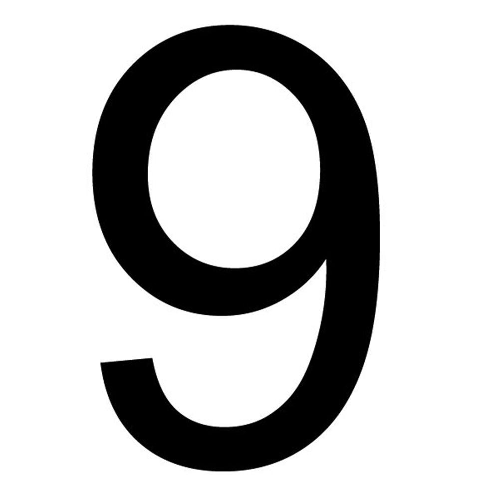 Szablon malarski cyfra 9 , czcionka Arial