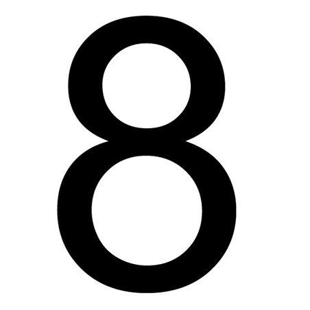 Szablon malarski cyfra 8 , czcionka Arial