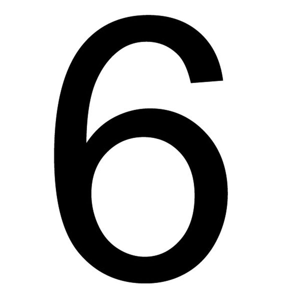 Szablon malarski cyfra 6 , czcionka Arial