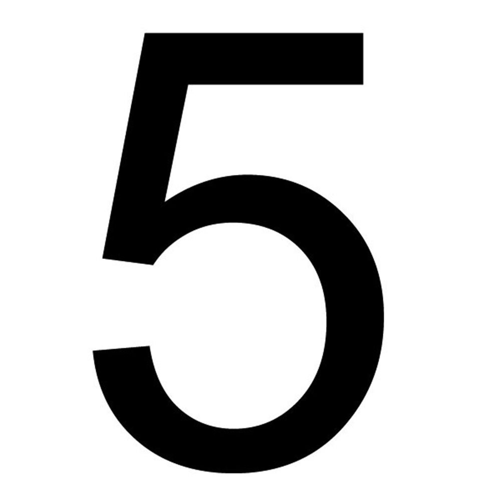 Szablon malarski cyfra 5 , czcionka Arial