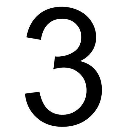 Szablon malarski cyfra 3 , czcionka Arial
