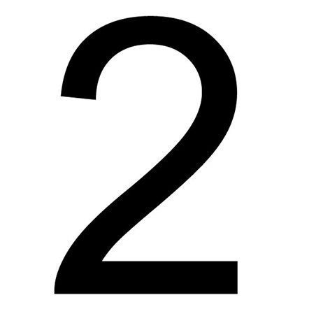 Szablon malarski cyfra 2 , czcionka Arial