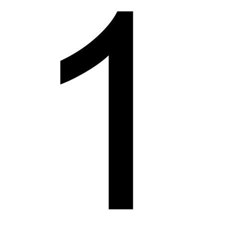 Szablon malarski cyfra 1 , czcionka Arial