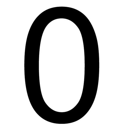 Szablon malarski cyfra 0 , czcionka Arial
