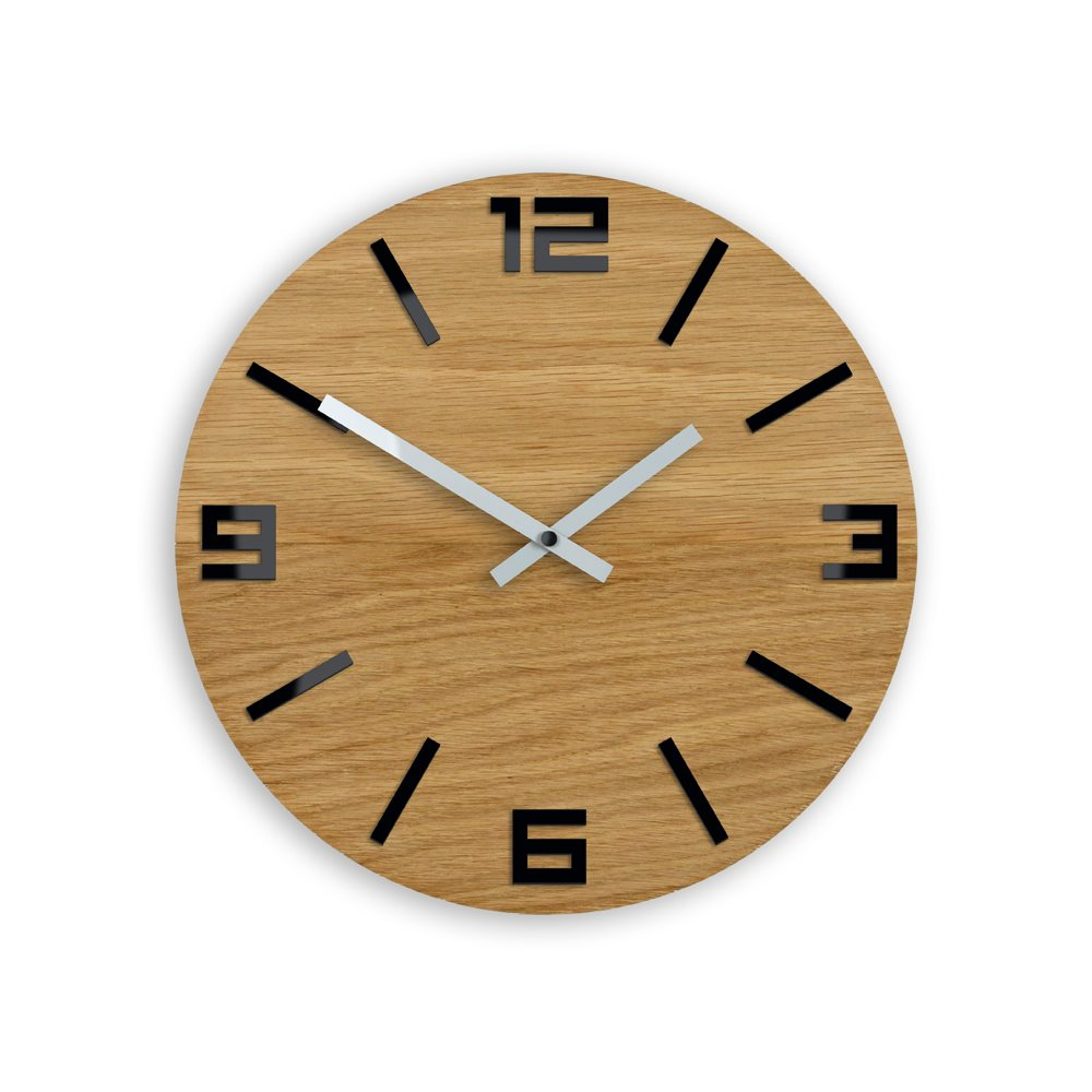 Zegar ścienny  Drewniany Arabic  Black