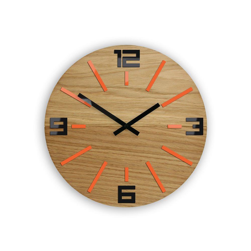 Zegar ścienny  Marco Sheen black&  Orange