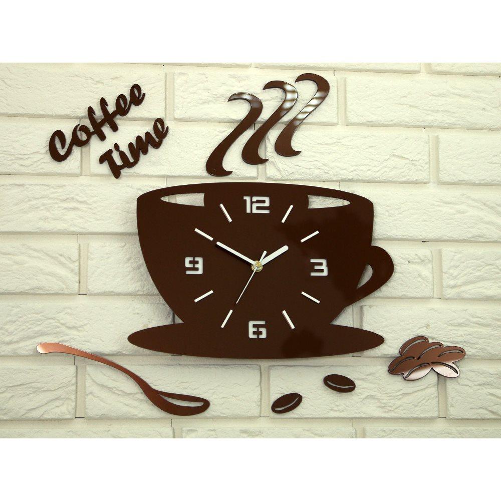 Zegar ścienny Coffe Time 3D Copper