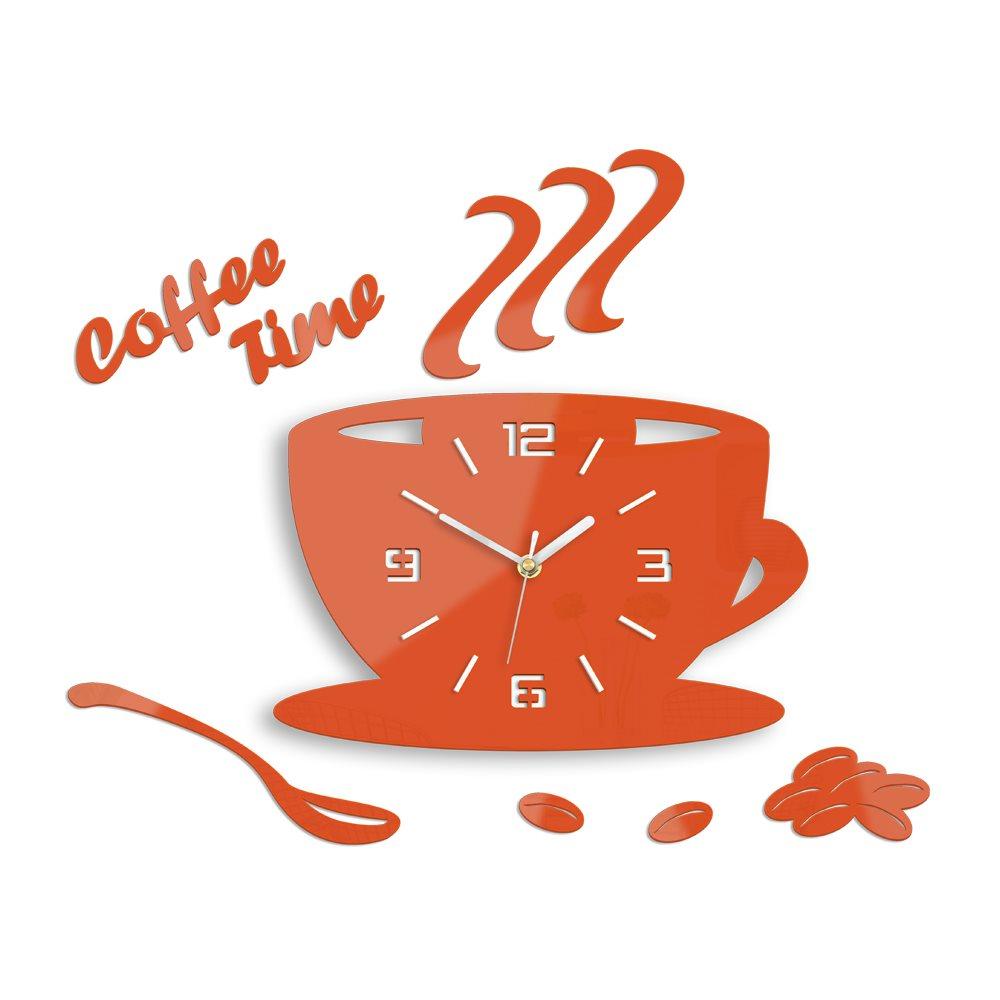 Zegar ścienny Coffe Time 3D Orange