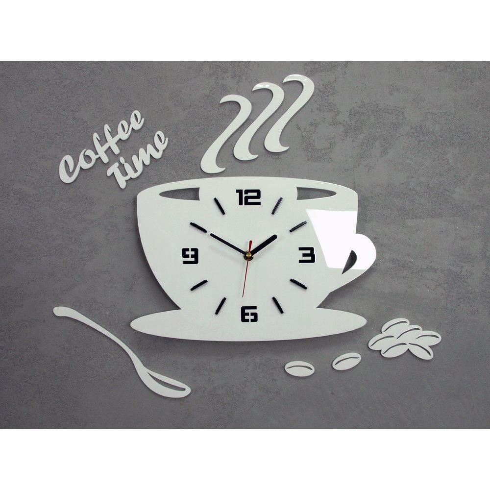 Zegar ścienny Coffe Time 3D White