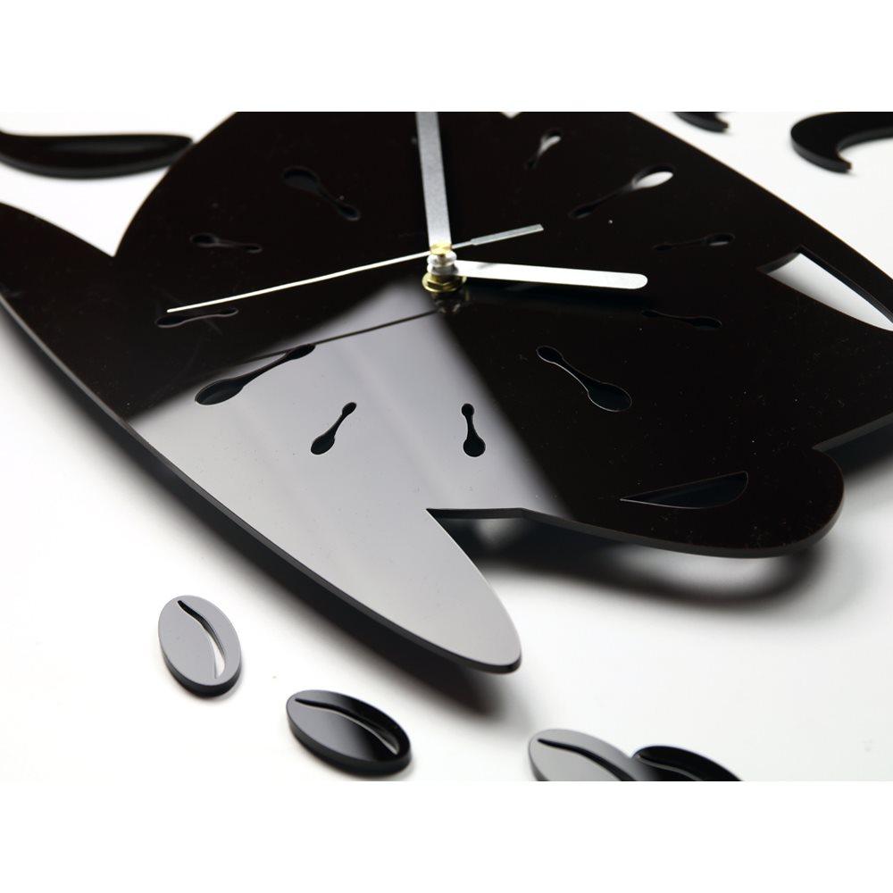 Zegar ścienny Coffe Time Wenge