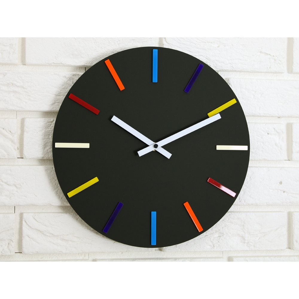 Zegar ścienny Colorfull Black