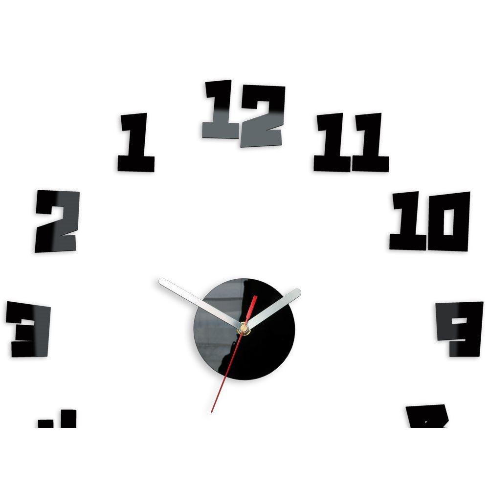 Zegar ścienny Crazy Clock black
