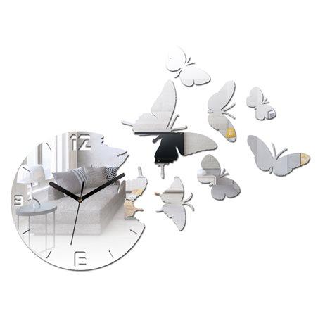 Zegar ścienny Motyle Mirror