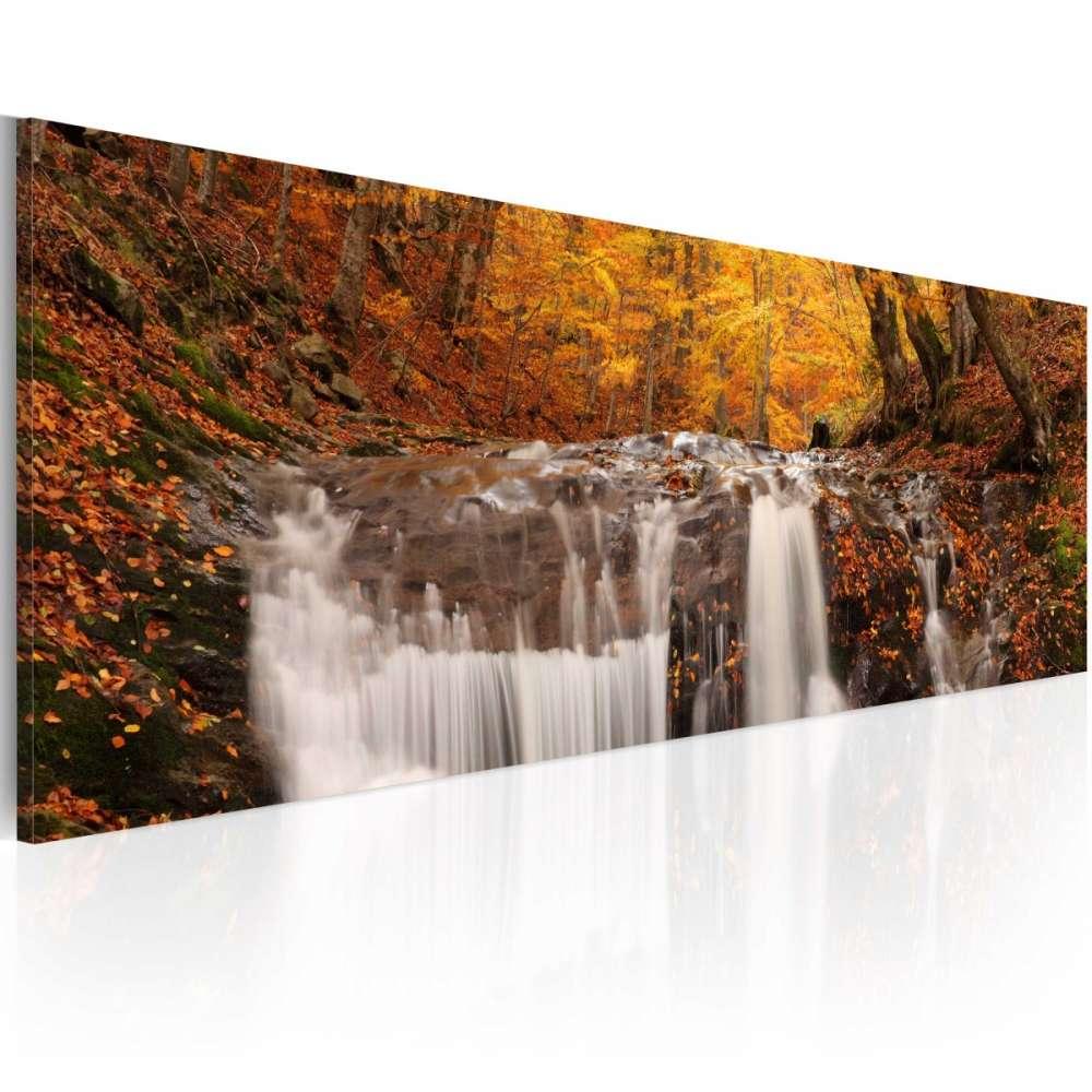 Obraz  Jesień i wodospad