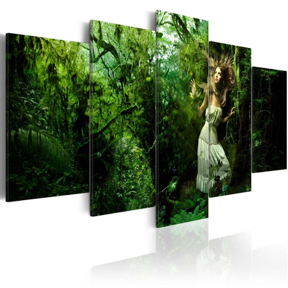 Obraz  Zagubiona w zieleni