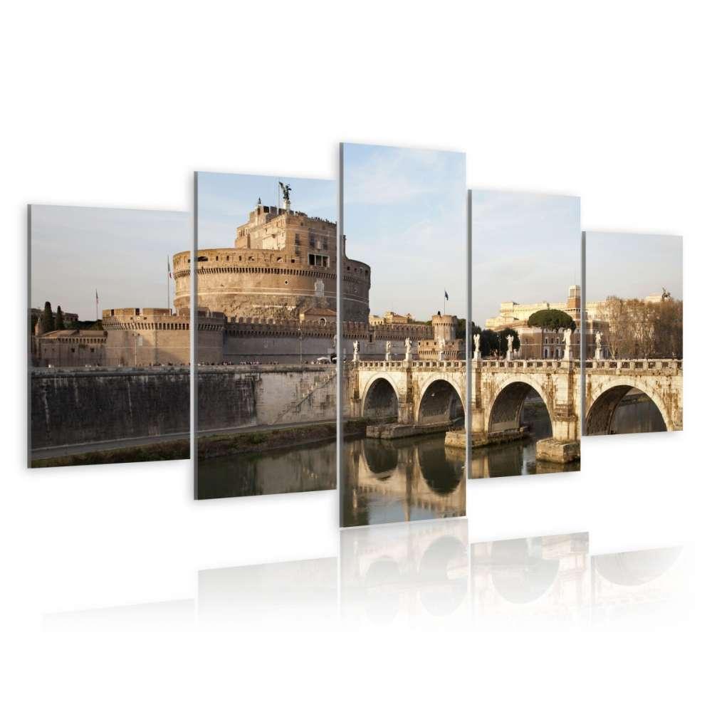 Obraz  Most św. Anioła o poranku