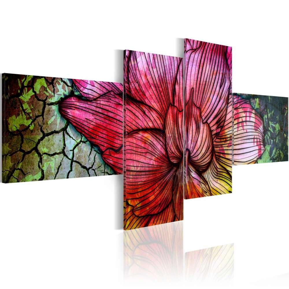 Obraz  Tęczowy kwiat