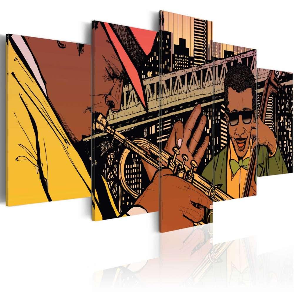 Obraz  Jazzowe granie  NYC