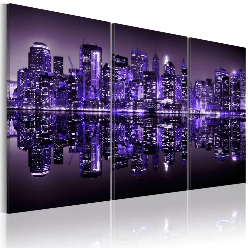 Obraz  Elektryzujący fiolet Manhattanu