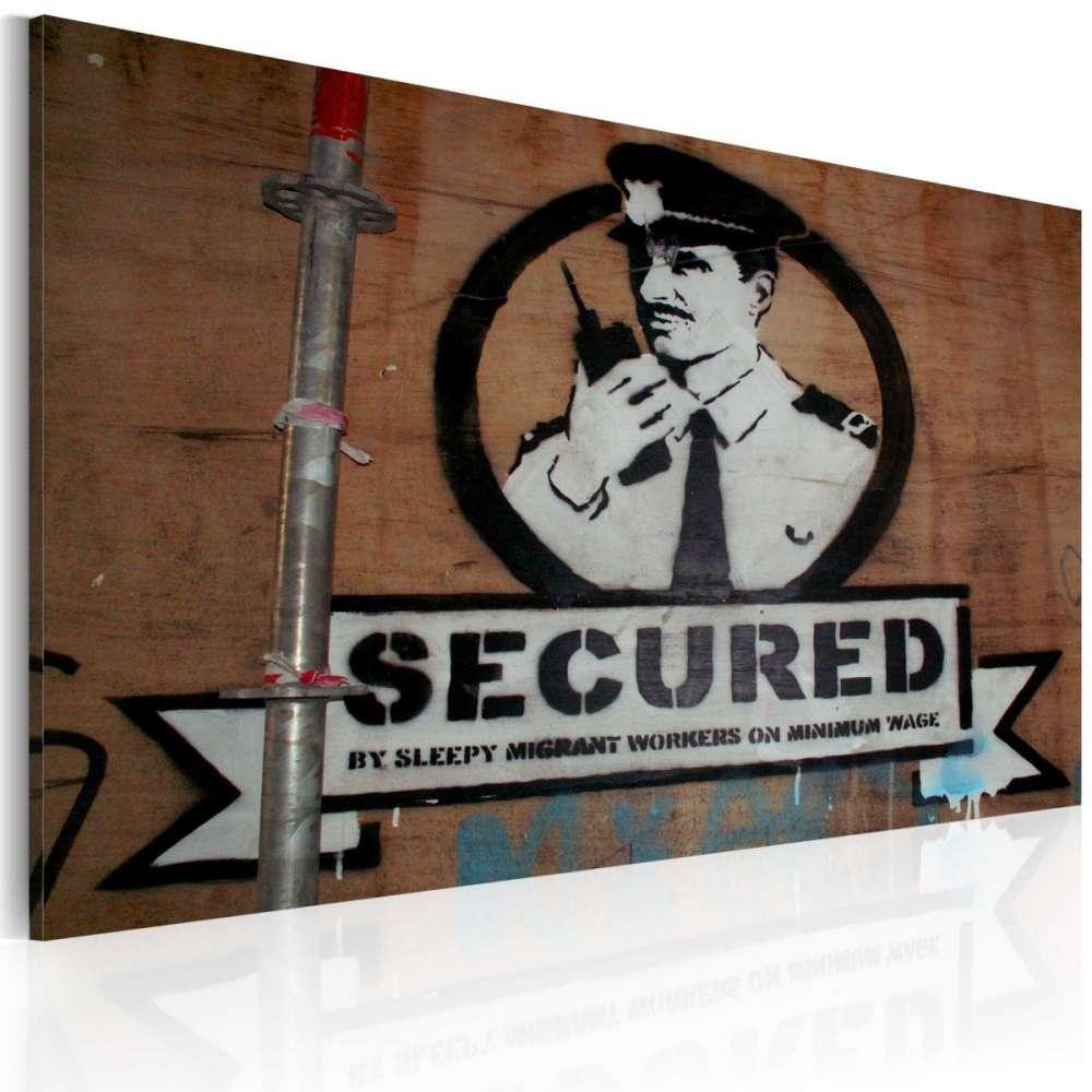 Obraz  Jesteśmy bezpieczni (Banksy)
