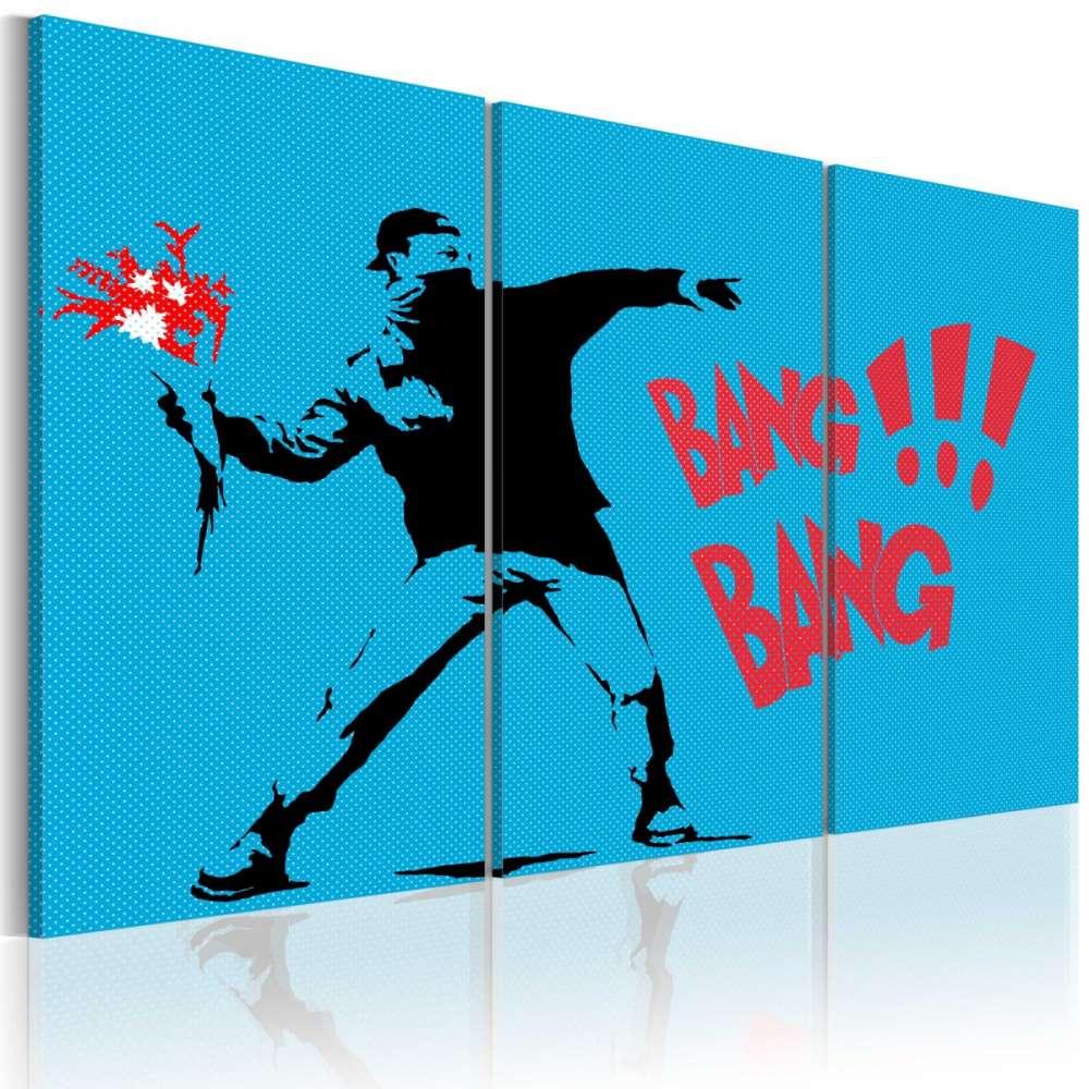 Obraz  Bang bang!  triptych