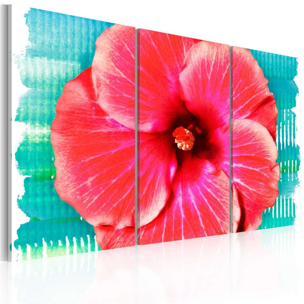 Obraz  Hawaiian flower  triptych