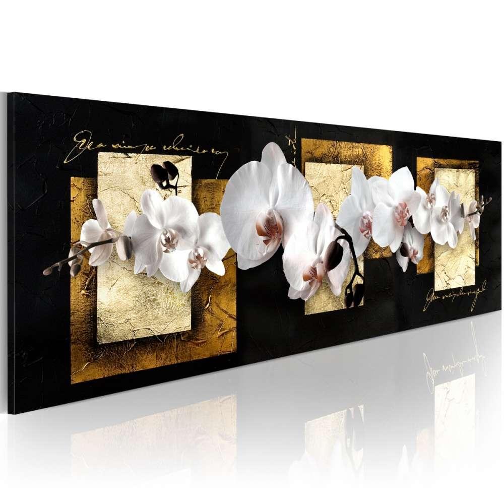 Obraz  Finezyjna kompozycja z orchideą