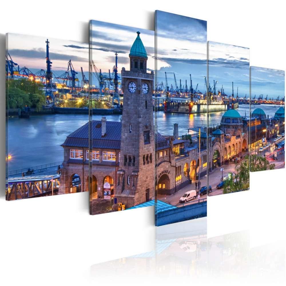 Obraz  Niemcy, Hamburg, port
