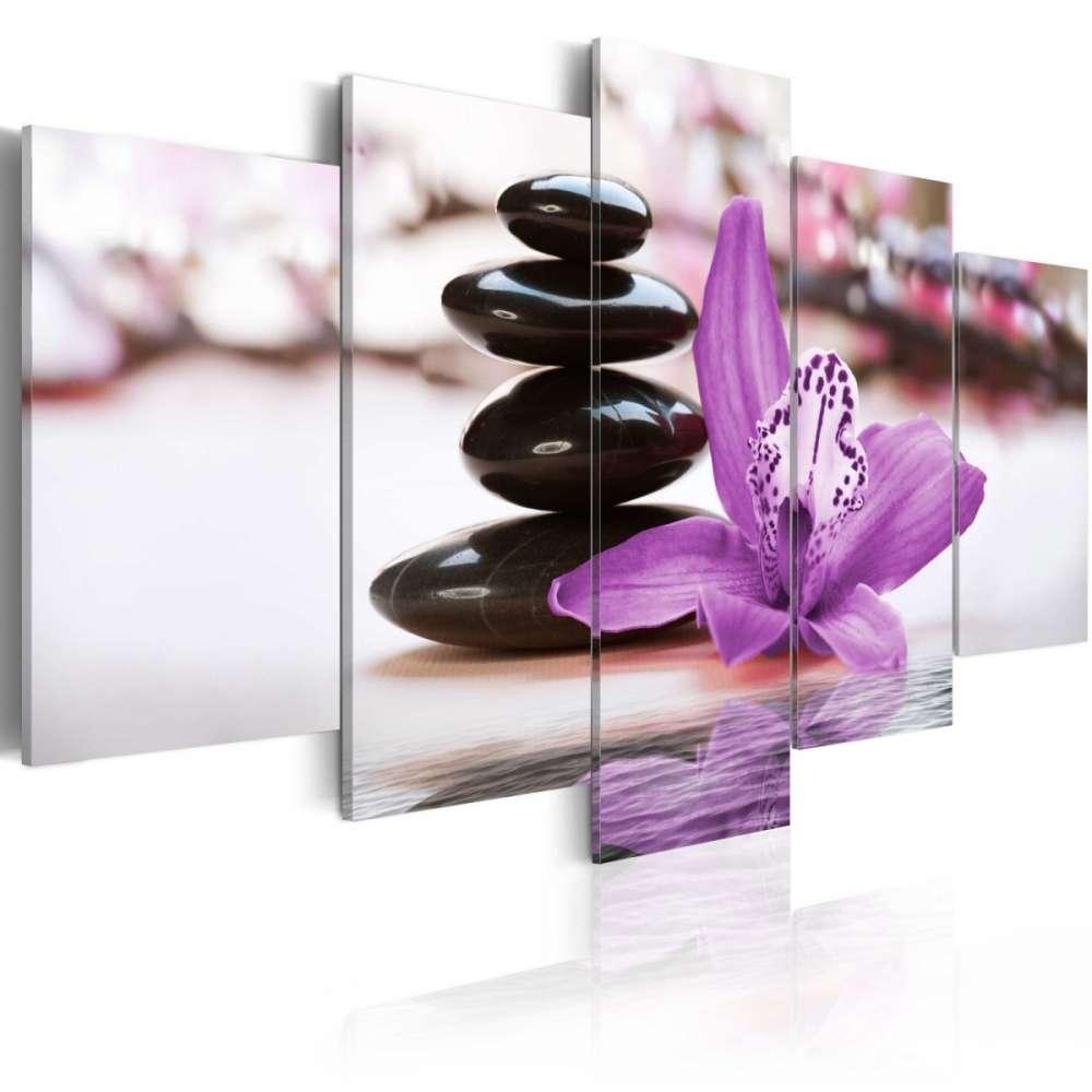 Obraz  Orchidea, kamienie i zen