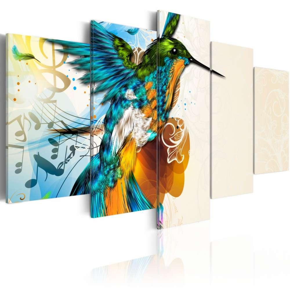 Obraz  Birds music  5 pieces