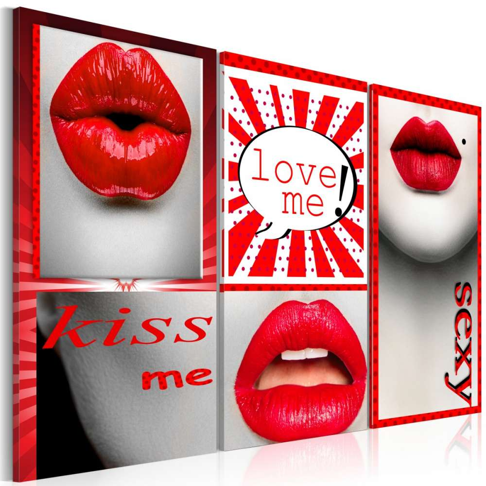 Obraz  Kiss me! Love me!
