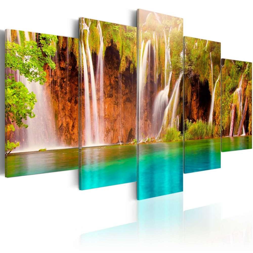 Obraz  Leśny wodospad