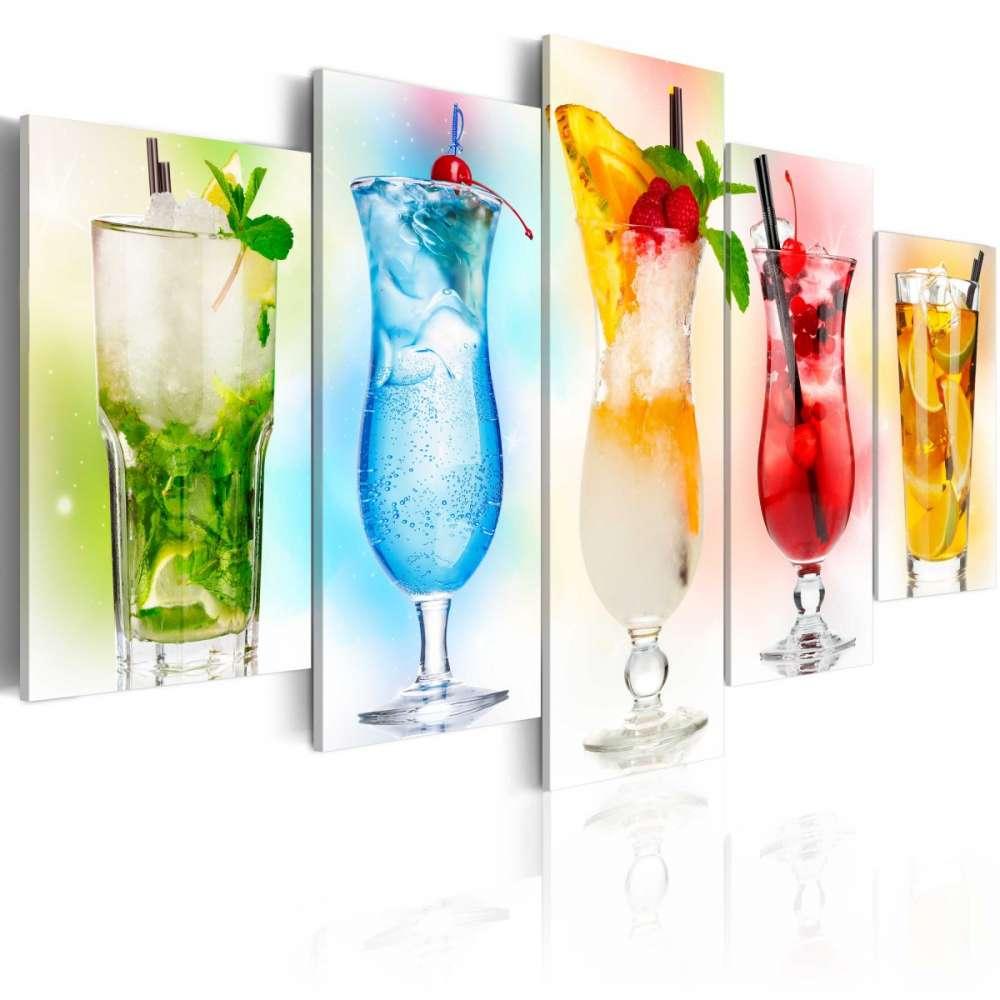 Obraz  Tęczowe drinki