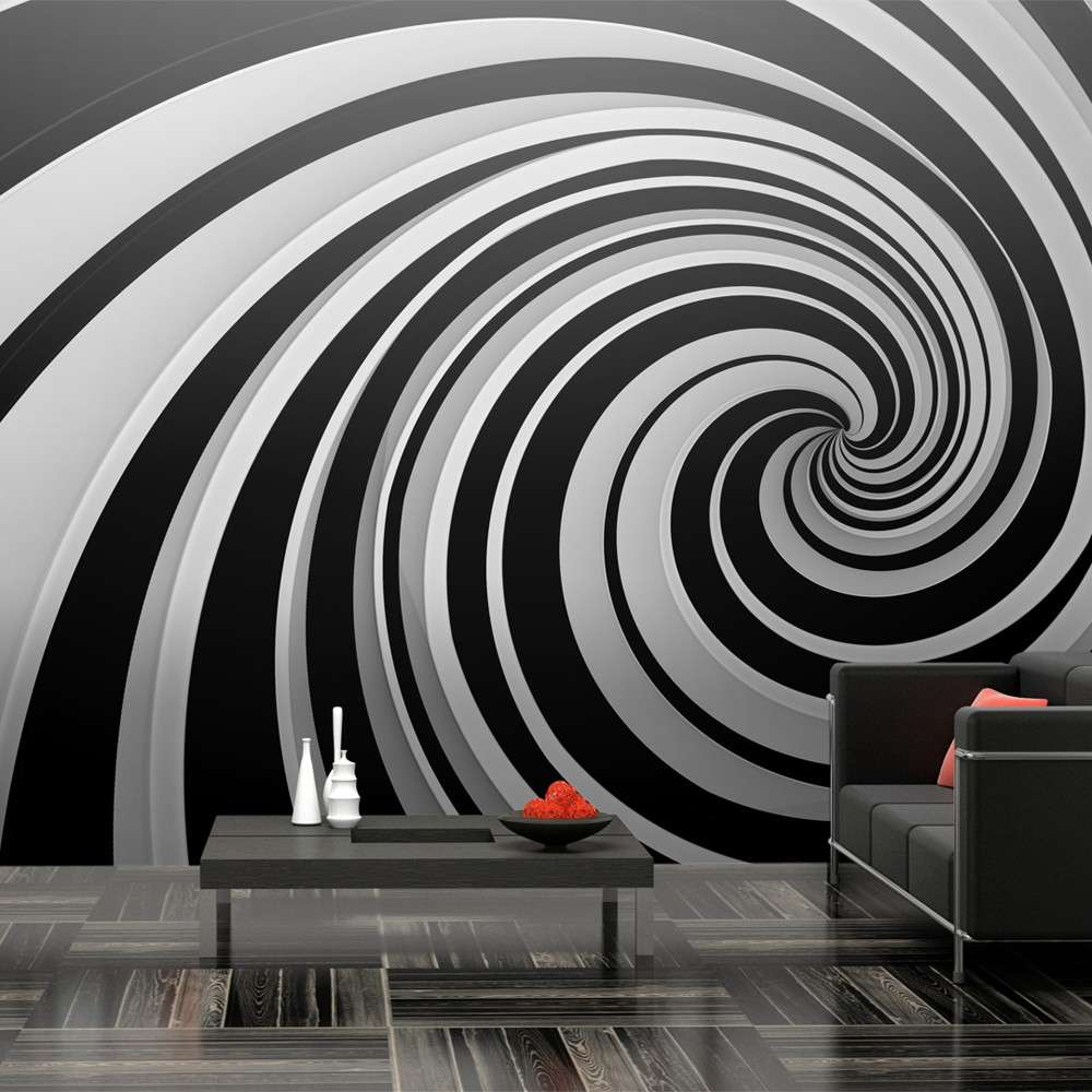 Fototapeta XXL  Black and white swirl