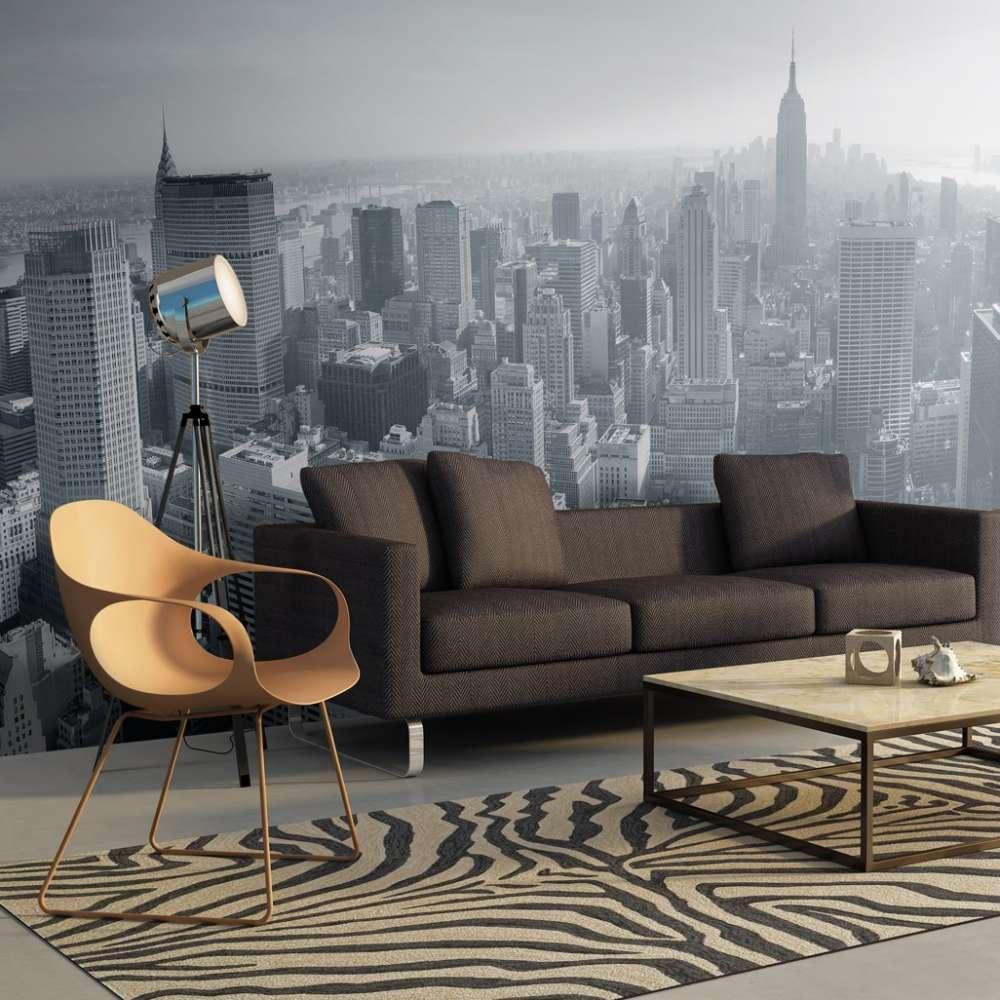 Fototapeta XXL  Czarnobiała panorama Nowego Jorku