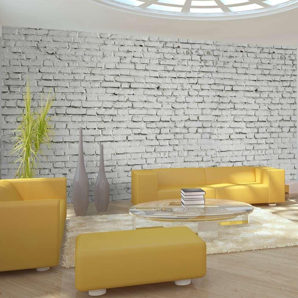 Fototapeta XXL  Ściana z białej surowej cegły
