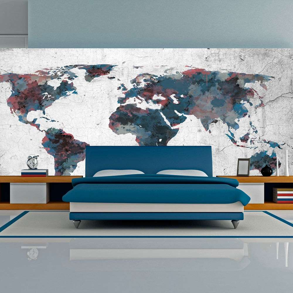 Fototapeta XXL  World map on the wall